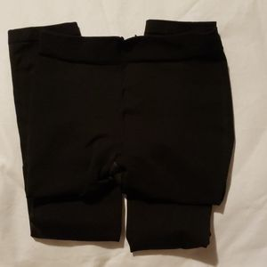 Black Spanx Sz A Footless Shaping Leggings Tights